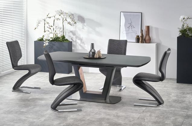 BILOTTI 2 rozkladací jedálenský stôl 160-200 cm, dekor antracitový mat/orech
