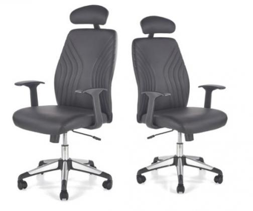 THEBA kancelářská židle, černá eko kůže