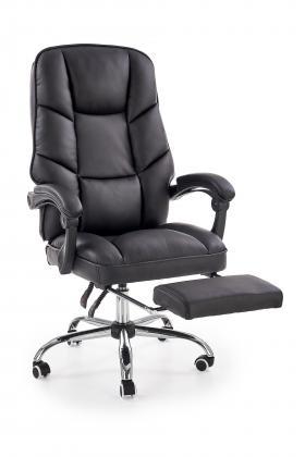 ALVIN kancelárske kreslo s podnožkou, čierne