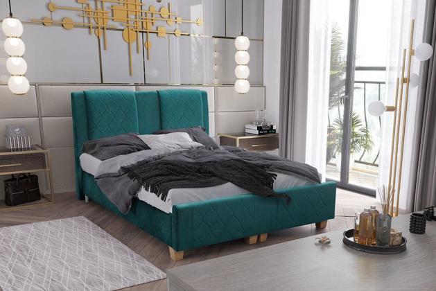 Levně BIBIENA 140x200 cm čalouněná postel s úložným prostorem