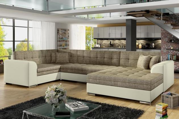 Sedačky-nábytek, SYDNEY U Rohová sedačka , béžová, 360x196x186cm