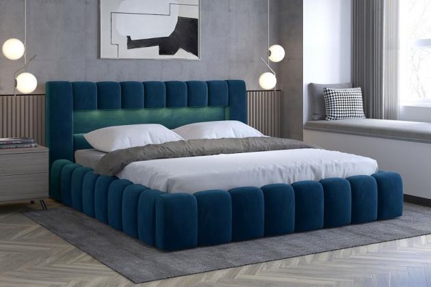 EGON 180x200 elegantní čalouněná postel s kovovým roštem