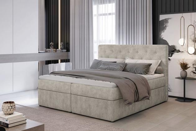 Levně NORA 160x200 boxspring postel s úložným prostorem