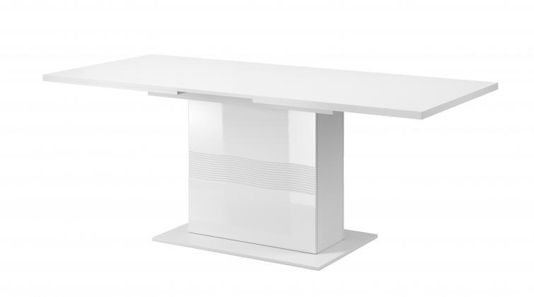DGT, ALABASTER AB-10 rozkladací jedálenský stôl, biely