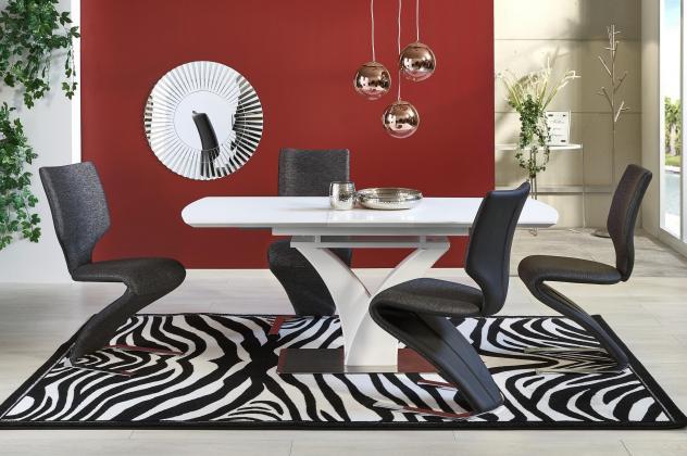 PALERMO rozkladací jedálenský stôl 140-180 cm, dekor biely mat
