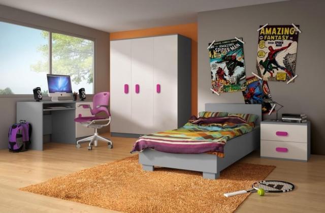 ICK, MIKI V zostava do detskej izby, sivá/farebná