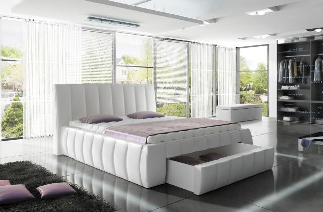 WRS, SIENA čalúnená posteľ s úložným priestorom 160X200 cm