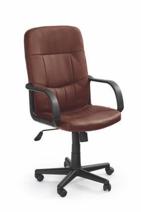 Denzel kožené kancelárske kreslo, hnedé, čierne
