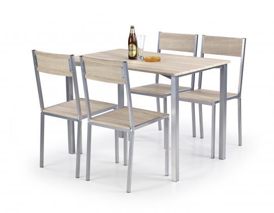 RALPH jedálenská zostava | jedálenský stôl + 4x stoličky, dub sonoma