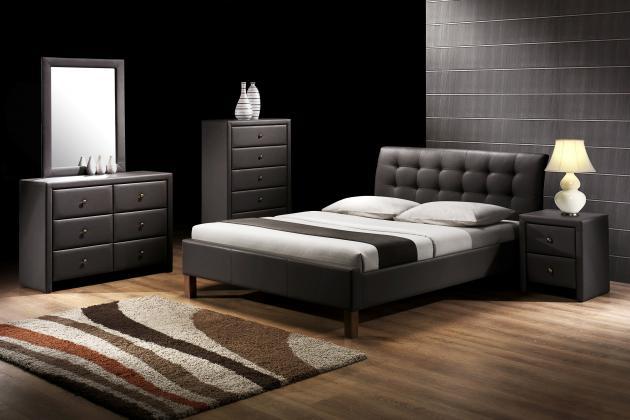 SAMARA čalúnená posteľ 160x200 cm, čierna